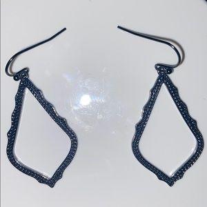 Gunmetal Kendra Scott Sophia Drop Earrings